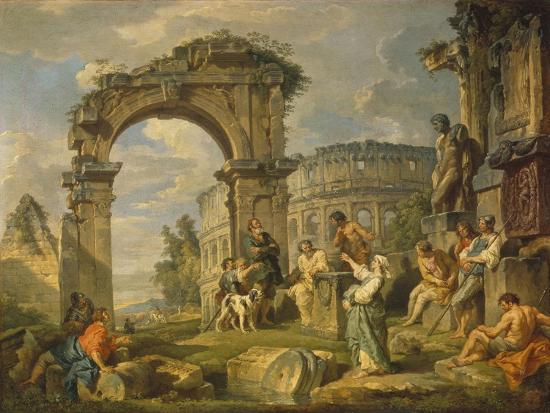 Cumaean Sibyl Prophesied the Birth of Christ, 1743-Giovanni Paolo Panini-Giclee Print