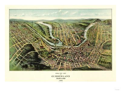 Cumberland, Maryland - Panoramic Map-Lantern Press-Art Print