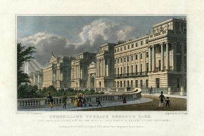 Cumberland Terrace, Regent's Park, London, 1827-J Tingle-Giclee Print