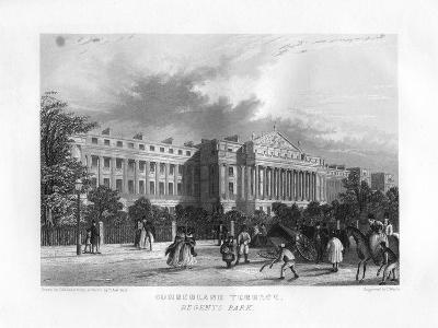Cumberland Terrace, Regent's Park, London, 19th Century-J Woods-Giclee Print