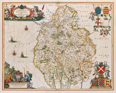 Cumbria and Westmoria, 1646-Jan Jansson-Premium Giclee Print