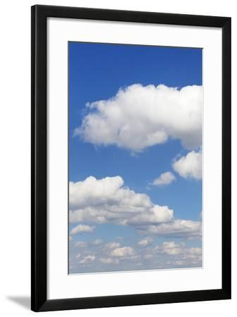 Cumulus Clouds, Blue Sky, Summer, Germany, Europe-Markus-Framed Photographic Print