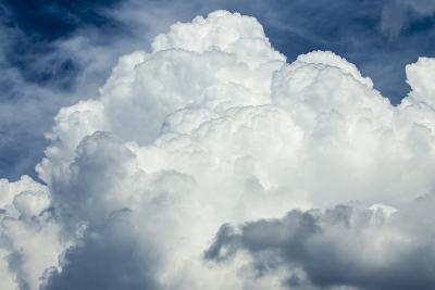 Cumulus Clouds Towering over the Sierra Nevada Mountains-Michael Qualls-Photographic Print