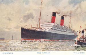 Cunard Carmania, Ocean Liner