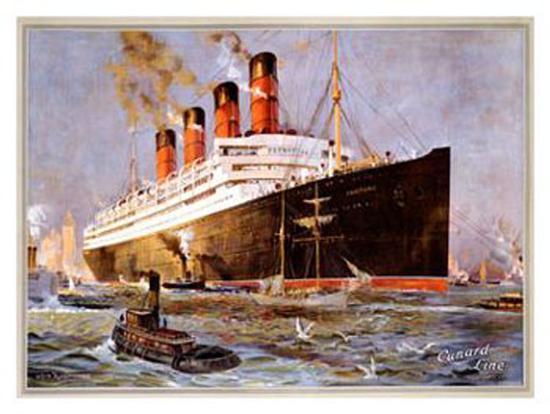 Cunard Line, Aquitania-Odin Rosenvinge-Giclee Print