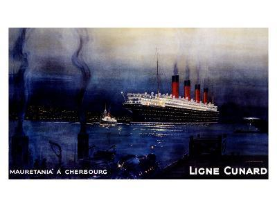 Cunard Line, Mauretania to Cherbourg-Kenneth Shoesmith-Giclee Print