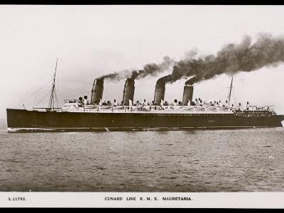 Cunard Line R.M.S. Mauretania--Photographic Print