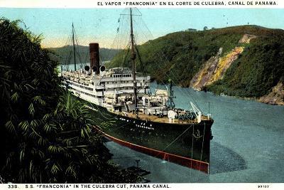 Cunard Line, S.S. Franconia,Dampfschiff,Panama Kanal--Giclee Print
