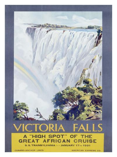 Cunard Line, Victoria Falls, 1931-W. G. Bevington-Giclee Print