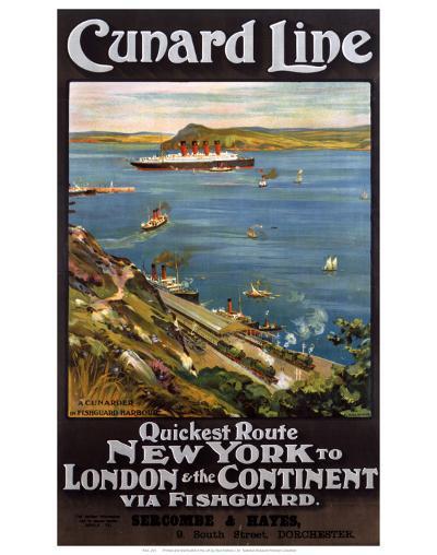Cunard Line--Art Print