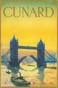 Cunard, Tower Bridge Travel Poster