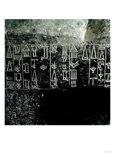 Cuneiform Script--Giclee Print