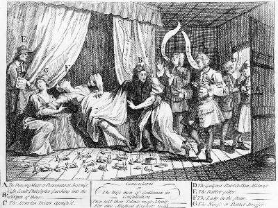 Cunicularii or the Wise Men of Godliman in Consultation, 1726-William Hogarth-Giclee Print
