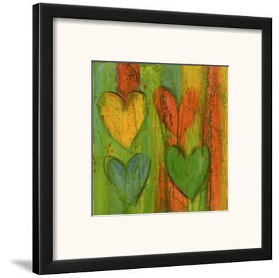Cuore Jaune Rosa-Roberta Ricchini-Framed Art Print