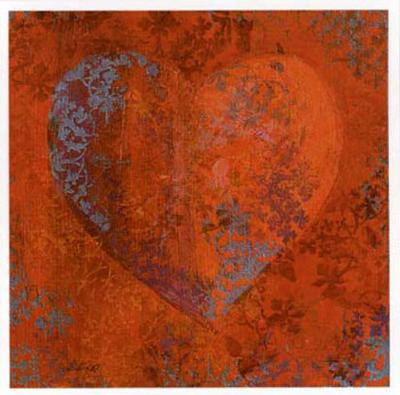 Cuore Orange-Roberta Ricchini-Art Print