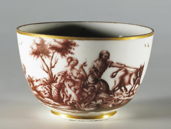 Cup, 1770, Porcelain, Ginori Manufacture, Doccia, Sesto Fiorentino, Tuscany, Italy--Giclee Print