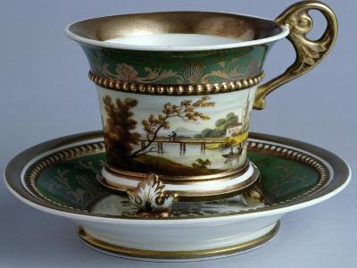 Cup and Saucer, Early Tablewares Series, Ceramic--Giclee Print