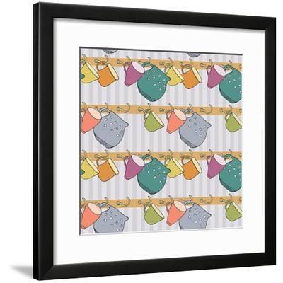 Cup Background- Nenilkime-Framed Premium Giclee Print