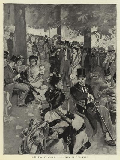 Cup Day at Ascot, the Scene on the Lawn--Giclee Print