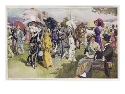 Cup Day at Ascot, the Smartest Day in the Racing Season--Giclee Print