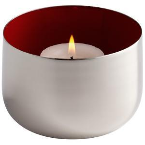 Cup O' Candle - Silver/Red