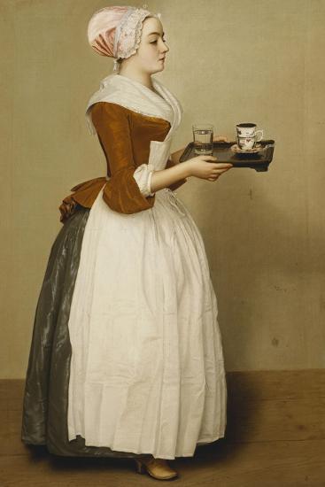 Cup of Chocolate; La Tasse Du Chocolat-Jean-Etienne Liotard-Giclee Print