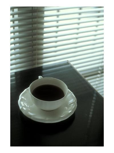 Cup of Coffee and Venetian Blinds--Art Print