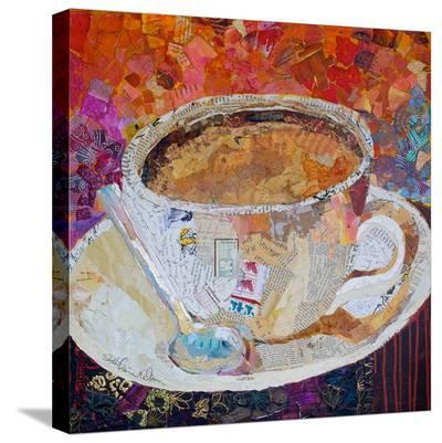 Cup Of Conversation--Stretched Canvas Print