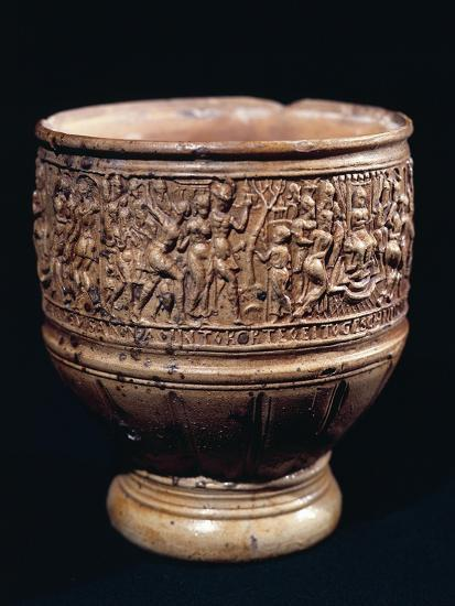 Cup with Bas-Relief Decorations--Giclee Print