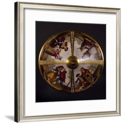 Cup with Lid, Porcelain, Kingdom of Naples Manufacture, Italy--Framed Giclee Print