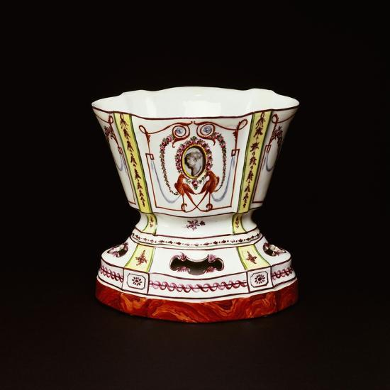 Cup with Polychrome Neoclassical Decorations, Ceramic, Nove Manufacture, Bassano, Veneto, Italy--Giclee Print