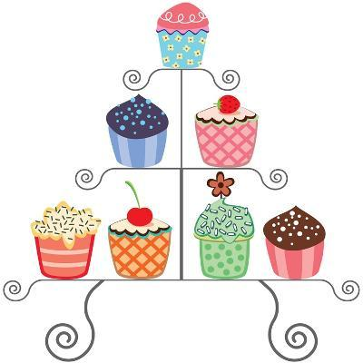 Cupcakes On A Stand Art Print By Dmstudio Art Com
