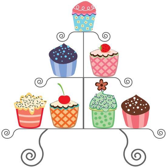 Cupcakes On A Stand-dmstudio-Art Print