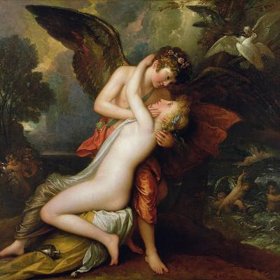 Cupid and Psyche, 1808-Benjamin West-Giclee Print