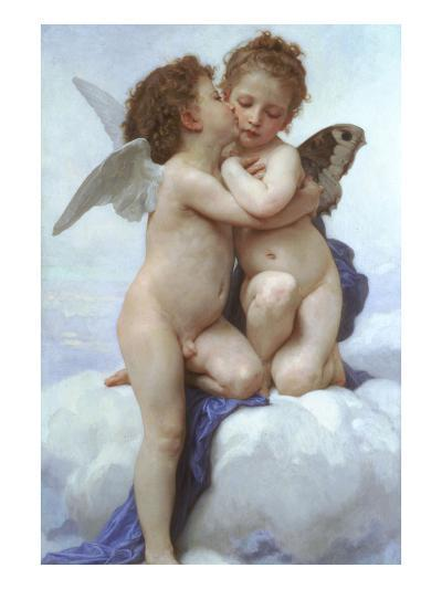Cupid and Psyche as Infants-William Adolphe Bouguereau-Art Print