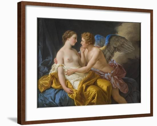 Cupid and Psyche, before 1805-Louis-Jean-François Lagrenée-Framed Giclee Print