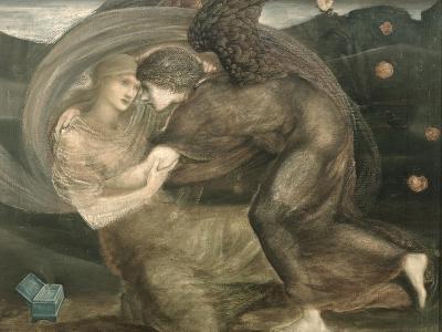 Cupid and Psyche-Edward Burne-Jones-Giclee Print