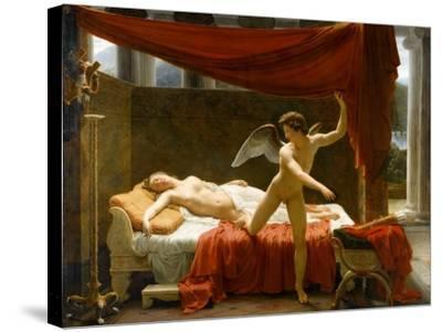 Cupid and Psyche-François-Édouard Picot-Stretched Canvas Print