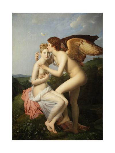 Cupid and Psyche-Fran?ois Pascal Simon G?rard-Giclee Print