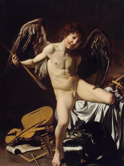 Cupid as Victor, Ca 1601-Caravaggio-Giclee Print