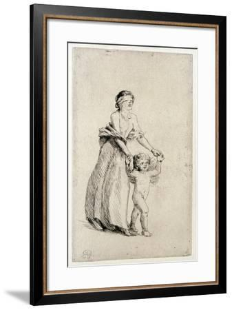 Cupid Leading a Blindfolded Girl, 1912-Anna Lea Merritt-Framed Giclee Print
