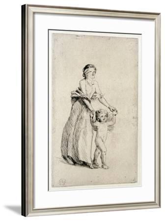 Cupid Leading a Blindfolded Girl, 1912-Anna Lea Merritt-Framed Giclee Print