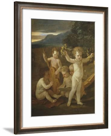 Cupid's Concert, C.1626-27-Nicolas Poussin-Framed Giclee Print
