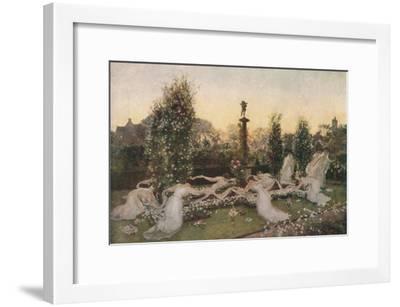 'Cupid's Garden', c1900, (1912)-John Henry Lorimer-Framed Giclee Print