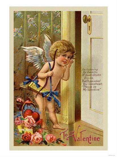 Cupid, To My Valentine--Art Print