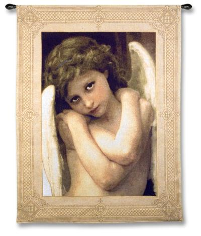 Cupidon, c.1875 (detail)-William Adolphe Bouguereau-Wall Tapestry