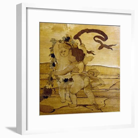 Cupids, Detail from Chest of Drawers with Inlays and Marble Top, 1775-Giuseppe Maggiolini-Framed Giclee Print