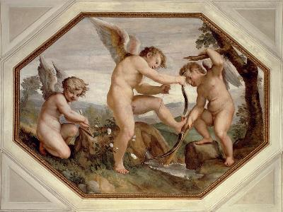 Cupids, Detail from Sala Dell'Amore--Giclee Print