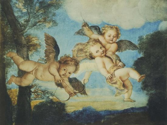 Cupids Playing, Drawing, 18th Century-Noel Nicolas Coypel-Giclee Print