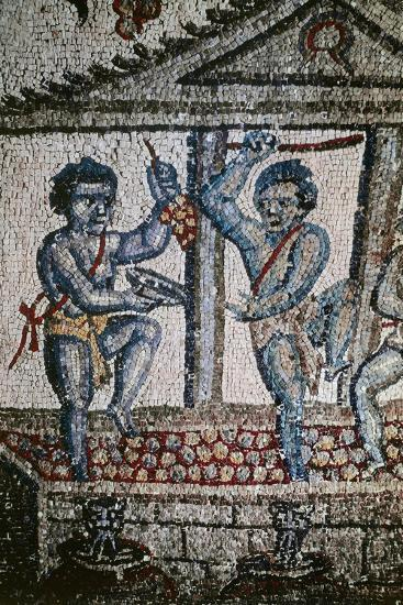 Cupids Treading Grapes, Mosaic Detail from Vault of Ambulatory--Giclee Print